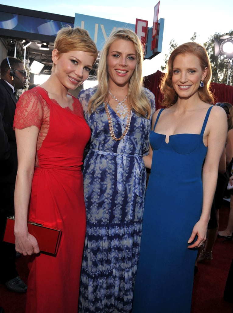 Busy Philipps, Jessica Chastain, and Michelle Williams posed together at the 2012 SAGs.