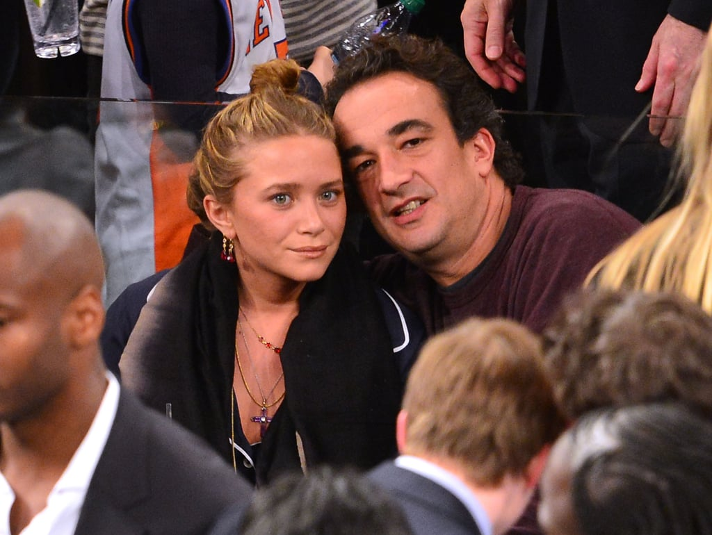 Mary-Kate Olsen and Olivier Sarkozy attended the New York Knicks game.