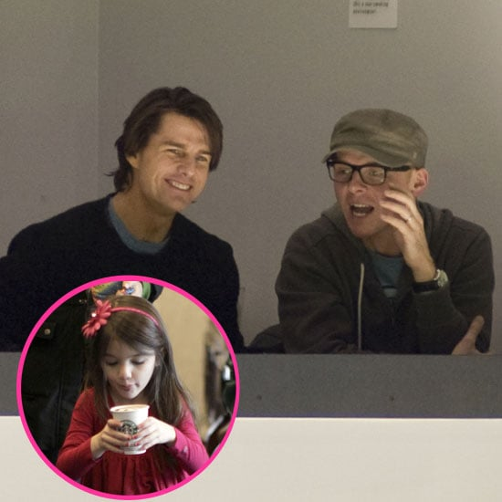 Pictures of Tom Cruise at Hockey Game and Suri Cruise at Starbucks