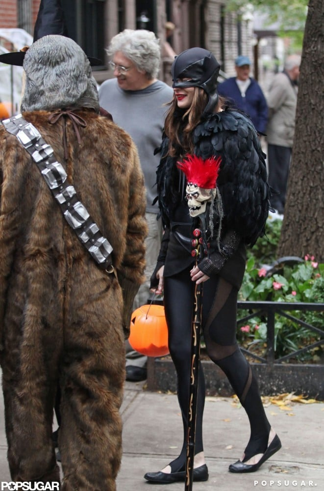 Liv Tyler channeled a crow as she trick-or-treated in NYC in 2010.