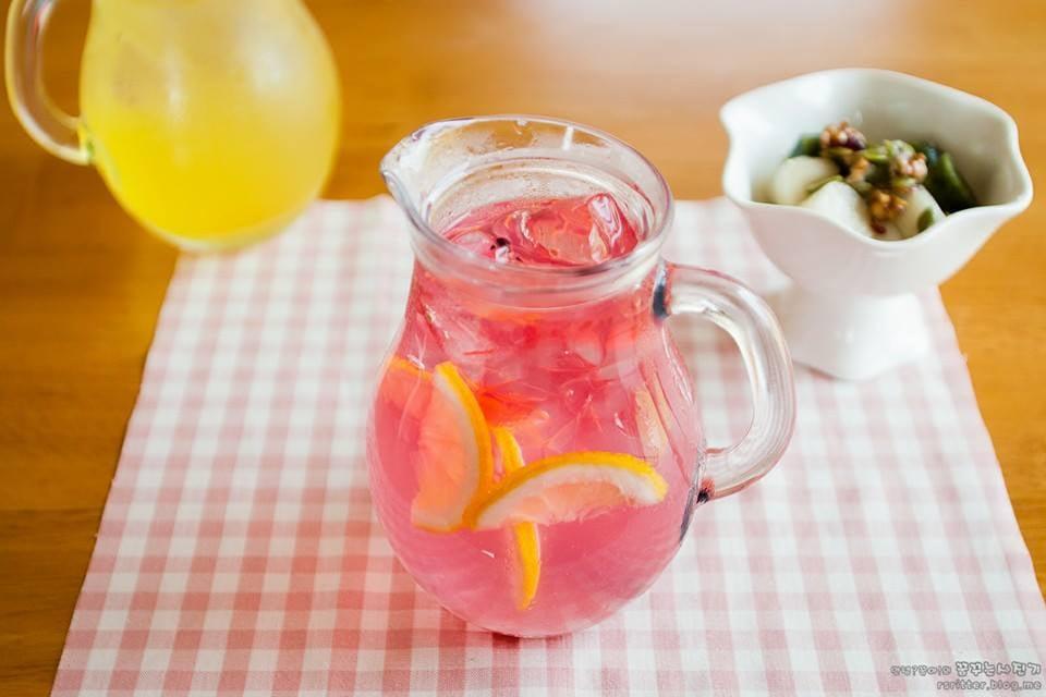 The Cafe Serves Pink Lemonade