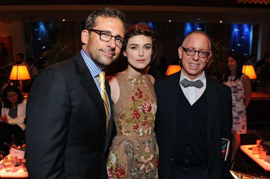 Keira Knightley posed with Steve Carrell at the Los Angeles Film Festival premiere of Seeking a Friend for the End of the World.