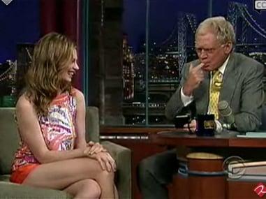 David Letterman Eats Makeup