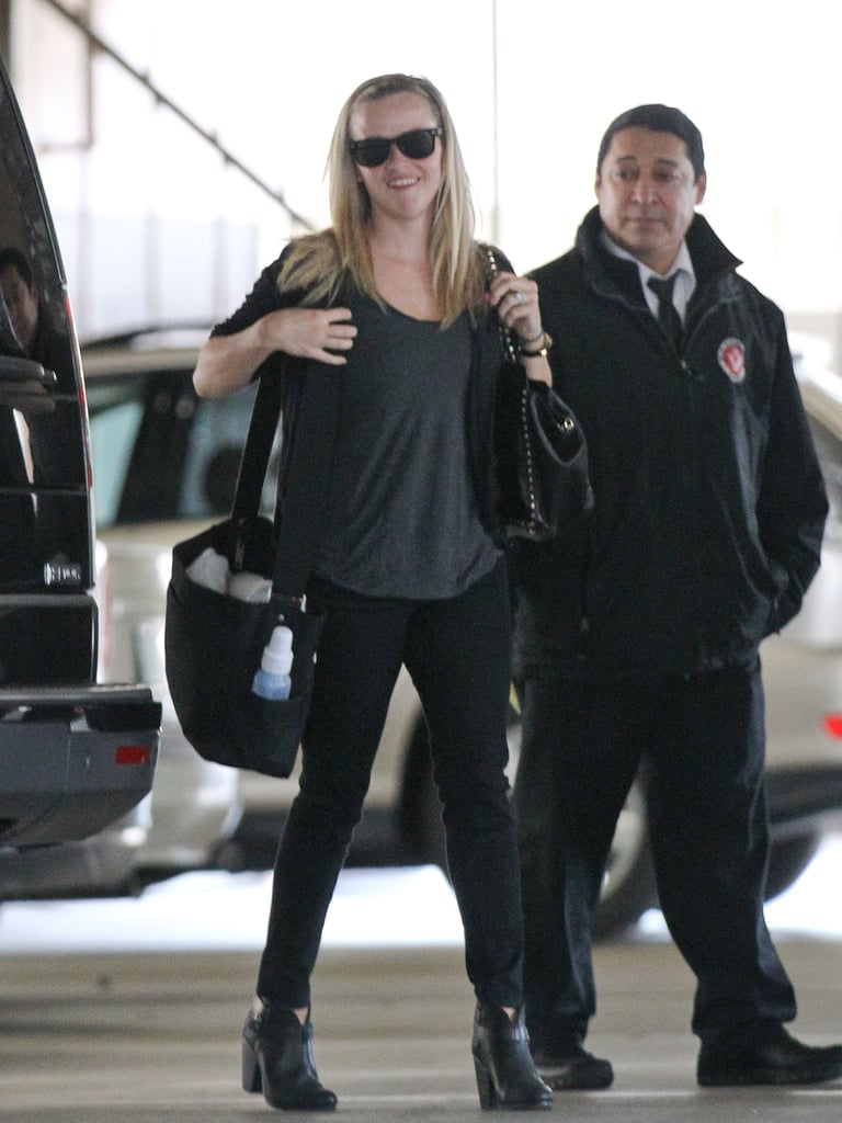 Reese Witherspoon carried baby Tennessee's diaper bag in LA.