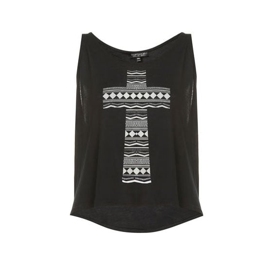 Ali assures me that I can in fact pull off a crop top, so this one seems the least scary to me. Loose with a distracting pattern! — Alison, BellaSugar editor Top, approx $19, Topshop