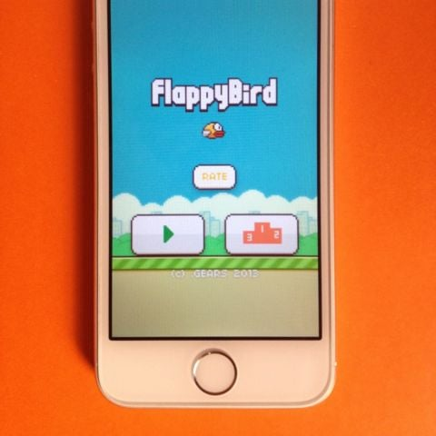 iPhone With Flappy Bird