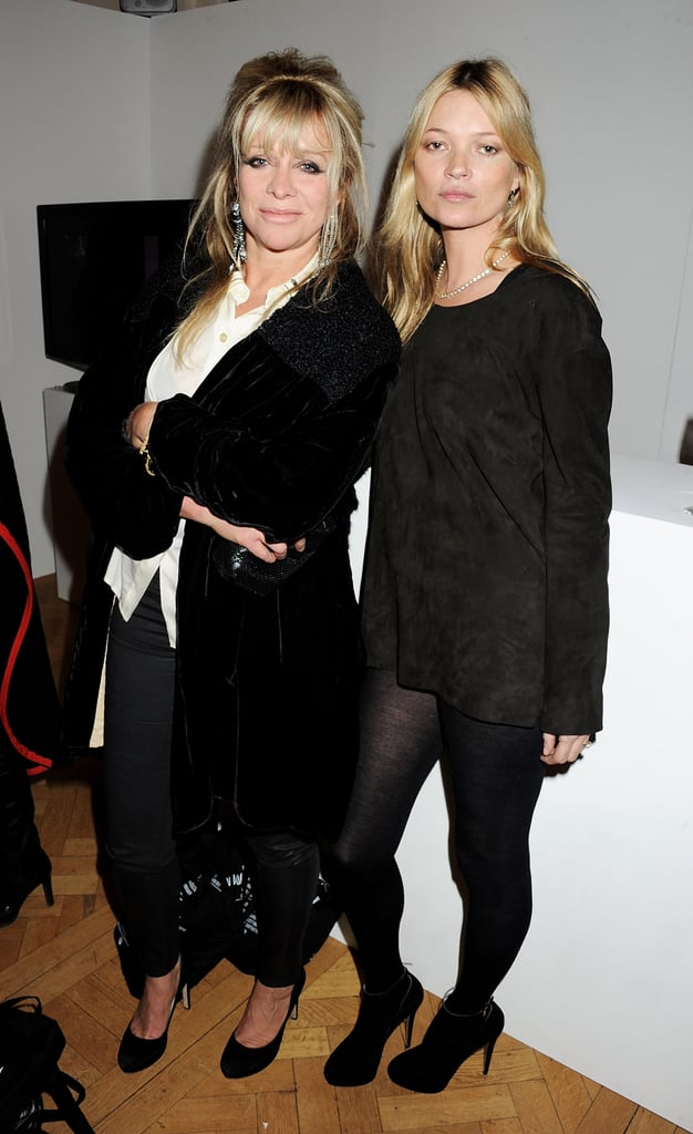 Kate Moss posed for a photo with Jo Wood.