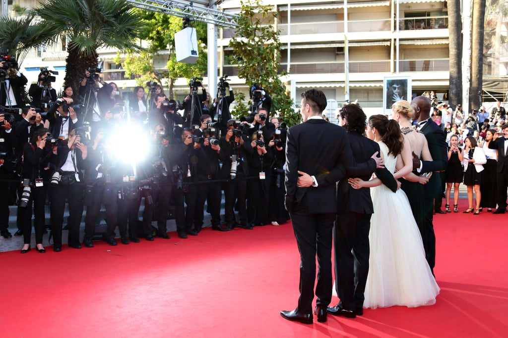 The cast of How to Train Your Dragon 2 — Jay Baruchel, Kit Harington, America Ferrera, Cate Blanchett, and Djimon Hounsou — had their arms around each other at the film's premiere.