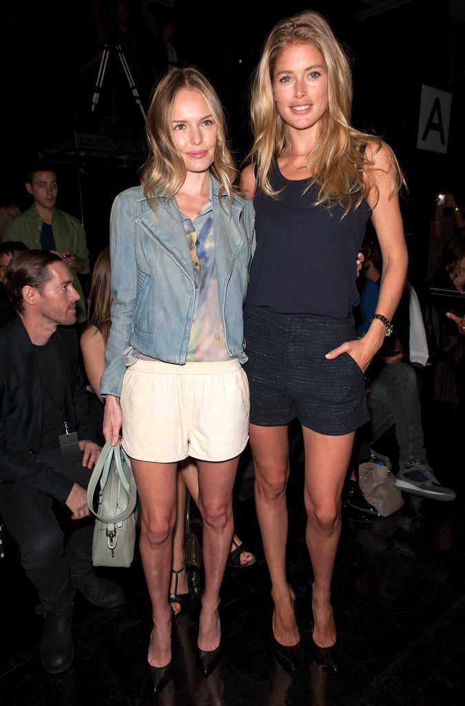 Kate Bosworth linked up with Doutzen Kroes at the Theyskens' Theory show in September 2012.
