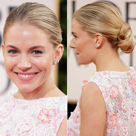Sienna Miller's Red Carpet Golden Globes Hair