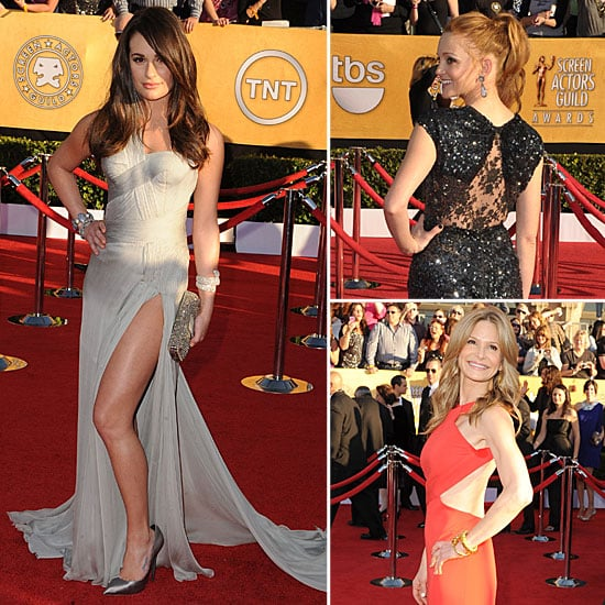 Lea Michele, Amber Heard and Jenna Ushkowitz Wear Sexy Splits and Cut-Outs on the 2012 SAG Award Red Carpet: See Who Else!