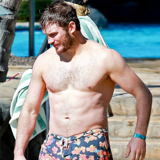 Chris Pratt Shirtless and Anna Faris in a Bikini in Hawaii