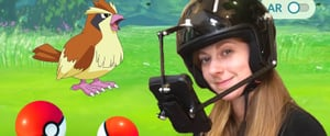 Someone Made a Pokémon Go Helmet and It's Hilariously Ridiculous
