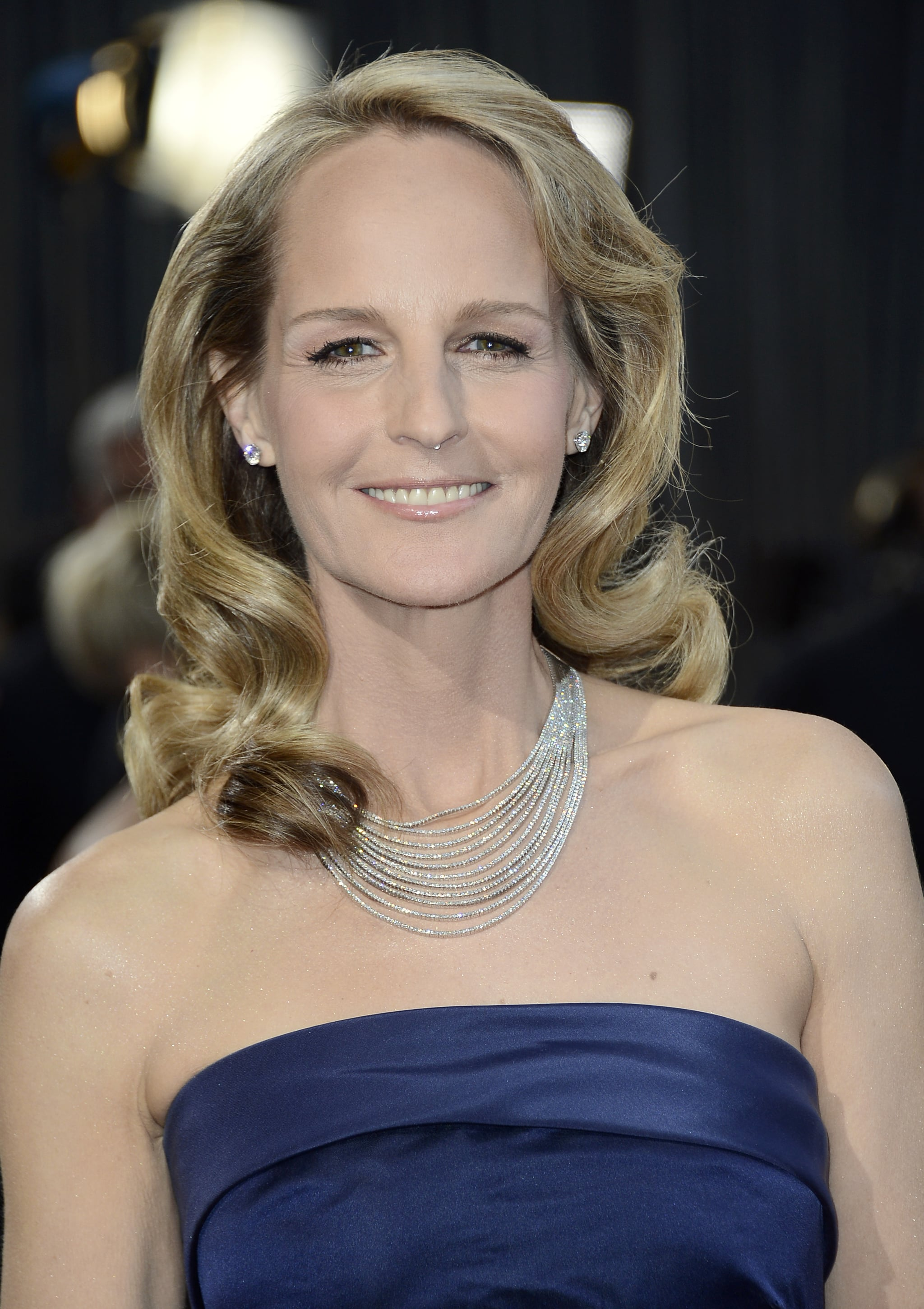 Helen Hunt on the red carpet at the Oscars 2013.