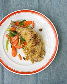 Fast & Easy Dinner: Crispy Mustard Chicken with Carrots