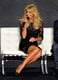 Faith Hill wore a lace black dress.