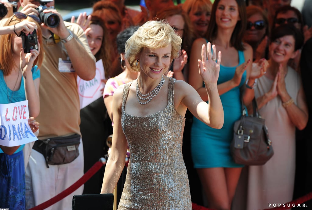 Naomi Watts waved to extras on the set of Caught in Flight.