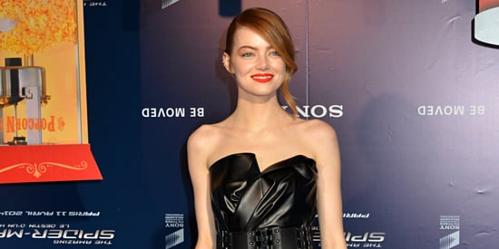 Emma Stone Channels Catwoman At Paris Premiere Of 'The Amazing Spider-Man 2'