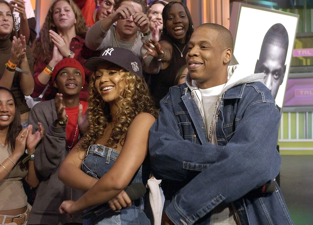 Jay Z and Beyoncé teamed up in NYC for an appearance on MTV's TRL in November 2002.