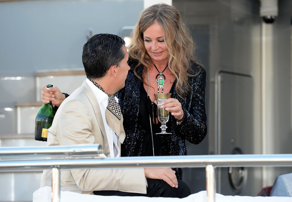 Stefano Tonchi and Eva Cavalli