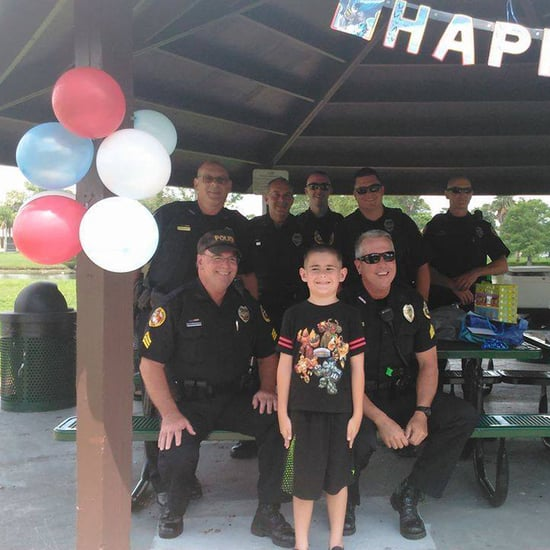 Police Officers Host Birthday Party For Kids With Autism