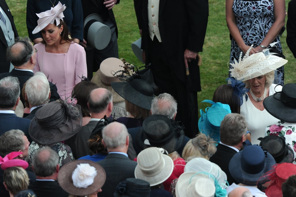 Kate Middleton and Camilla Parker Bowles chatted with arrivals.