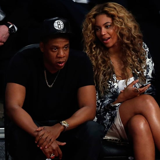 Beyoncé Knowles and Jay-Z at All Star Game   2013