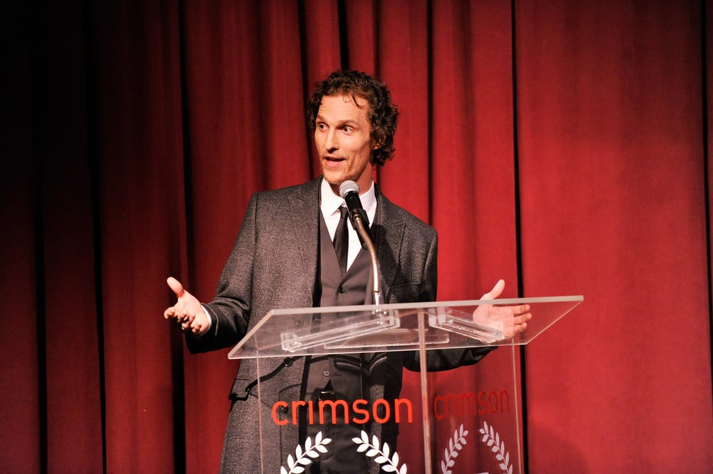 Matthew McConaughey lost weight for a new role.