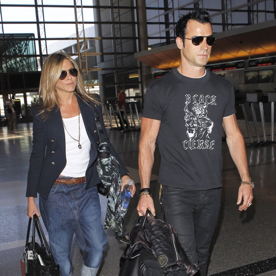 Jennifer Aniston and Justin Theroux Together at LAX Pictures