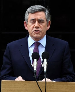 Pictures of Gordon Brown Announcement He Will Resign as Labour Leader