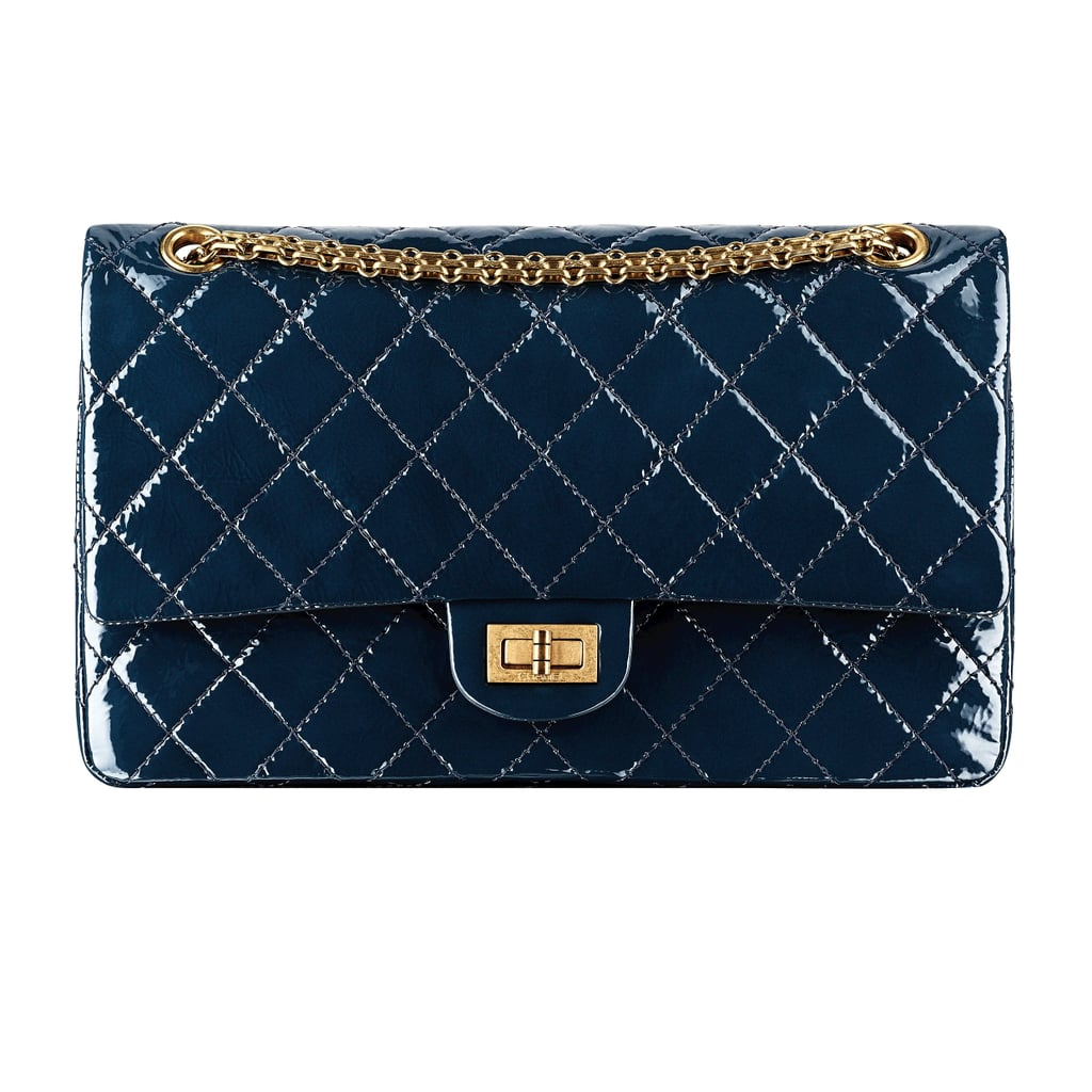 Chanel Peacock Blue Patent Leather Bag With a Mademoiselle Lock Photo courtesy of Chanel