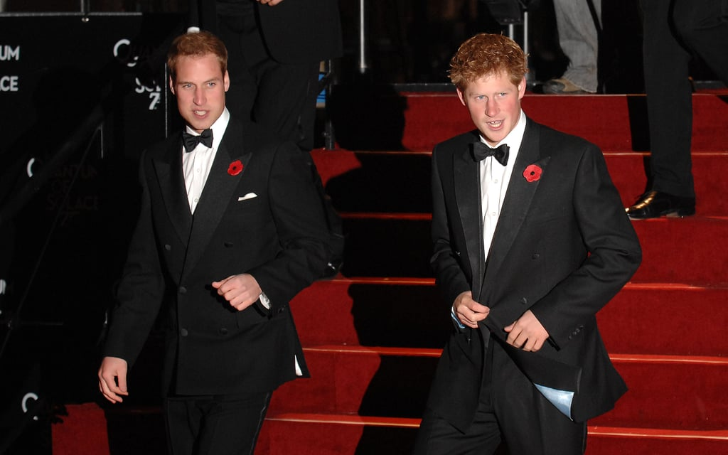 Harry and his brother arrived at the world premiere of the James Bond film Quantum of Solace in October 2008.