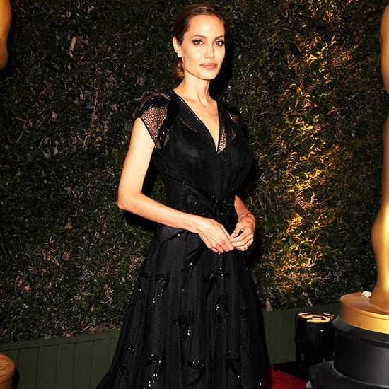 Angelina Jolie's Black Dress Governors Awards 2013 | Video