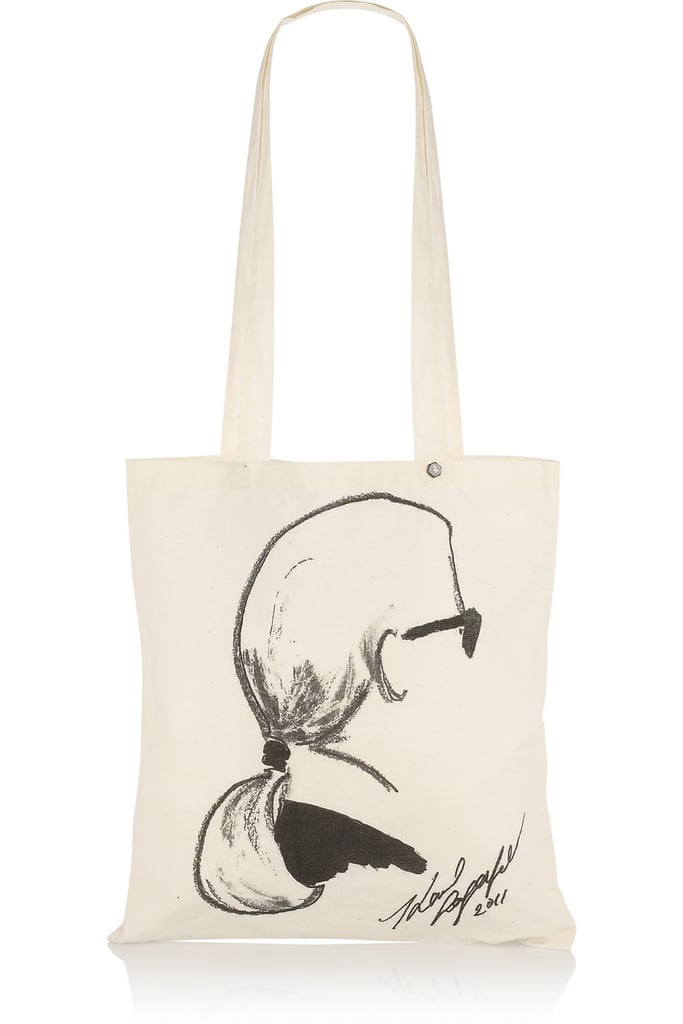 This easy tote was made for the fashion-obsessed.  Karl Printed Shopper ($25)