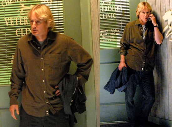 Owen Wilson on the Set of Marley and Me