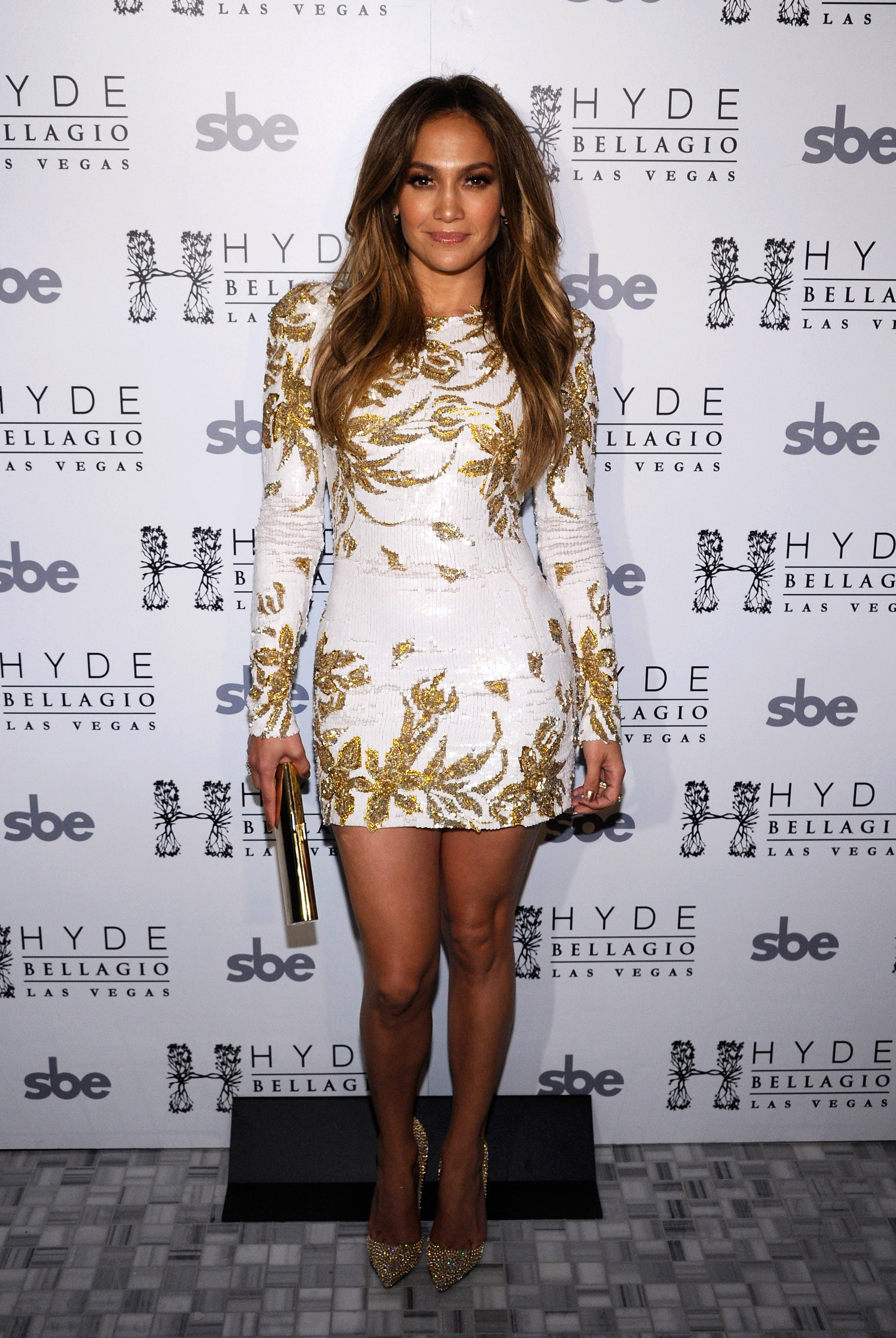 "Miss Lopez donned a gilded Zuhair Murad minidress for the launch of her single ""Goin' In"" in Las Vegas in May 2012."