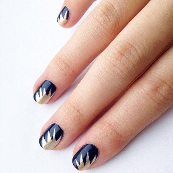 DIY Starburst Nail Art Design