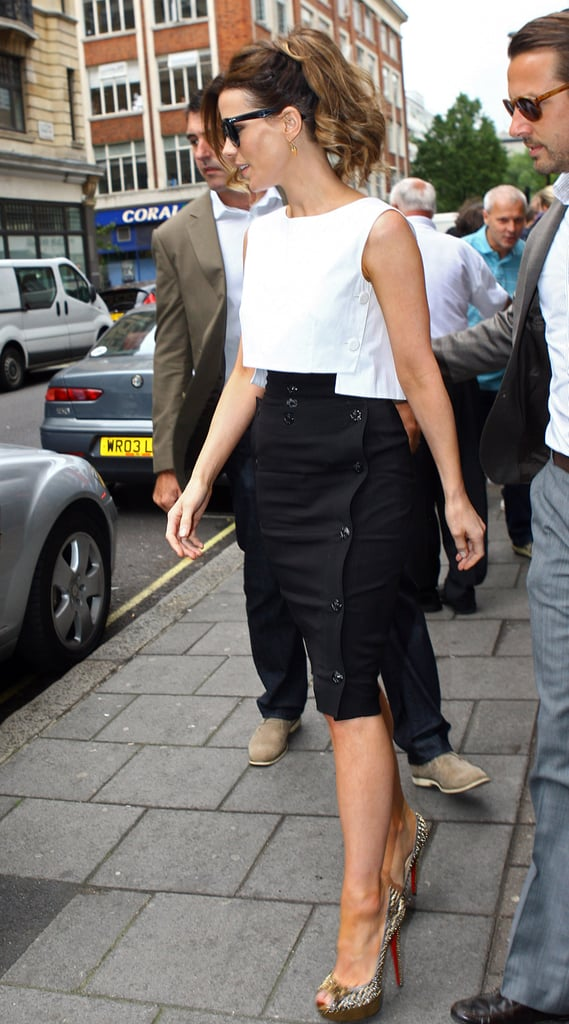 Kate Beckinsale made an appearance on BBC Radio in London.