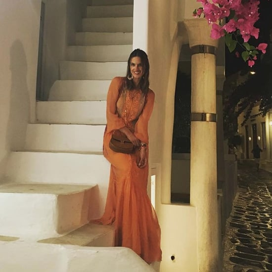 Alessandra Ambrosio's Alberta Ferretti Dress in Mykonos