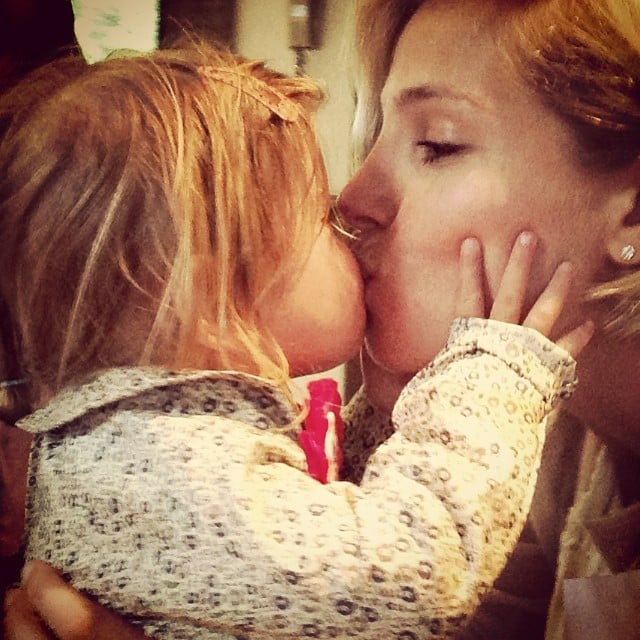 Elsa Pataky kissed her daughter, India, while they celebrated her birthday. Source: Instagram user elsapatakyconfidential