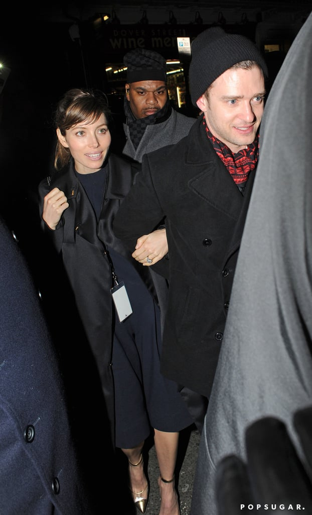 After Justin's Brit Awards performance in February 2013, he and Jessica went to the Sony afterparty in London.
