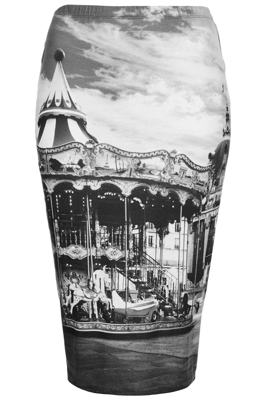 Topshop Carousel-Print Tube Skirt ($56)