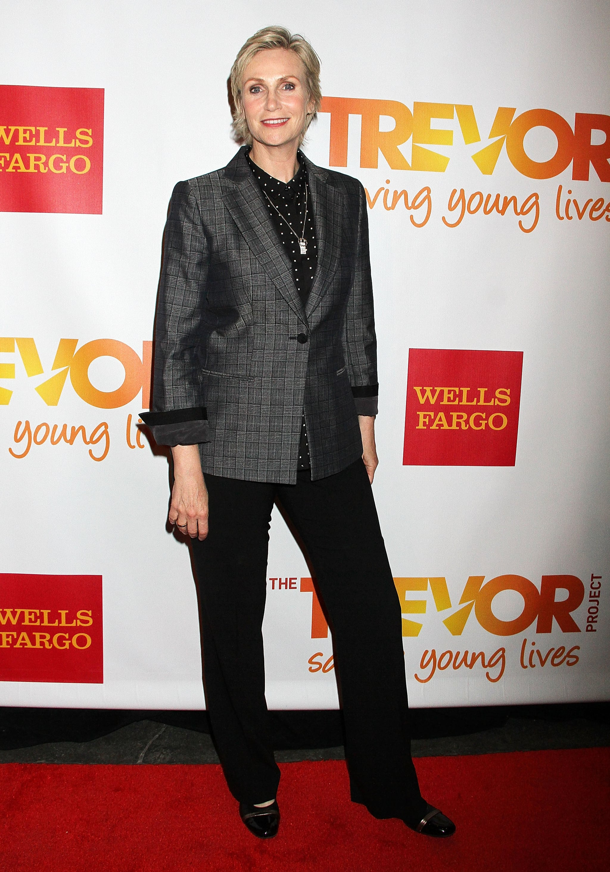 Jane Lynch was all smiles.