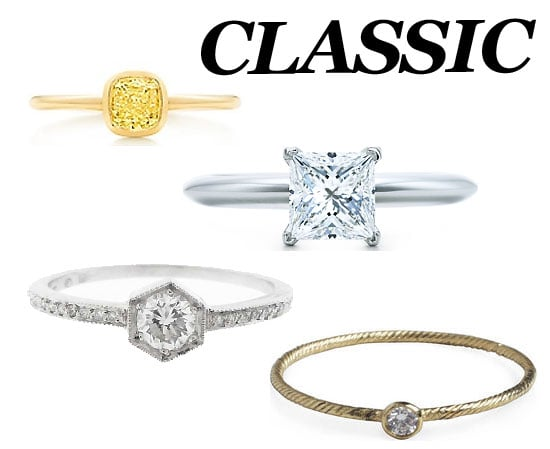 We found the most gorgeous classic engagement rings.