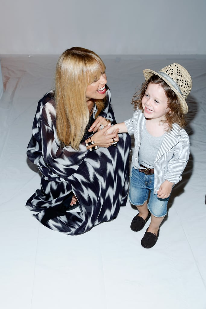 Rachel Zoe was all smiles backstage at her runway show with her son, Skyler Berman, on Wednesday.