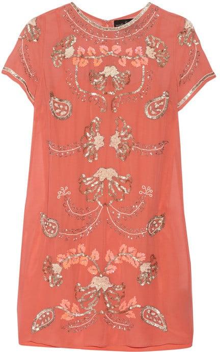 Needle & Thread Gilded Filigree Mini Dress