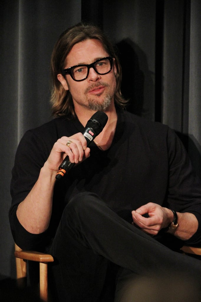 Brad Pitt was at a screening of Moneyball in LA.