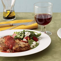 Fast & Easy Dinner: Ginger Pork Chops With Spinach Salad