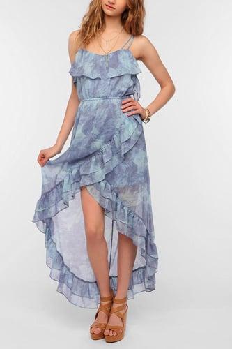 Ecote Tulip Ruffle Chiffon Maxi Dress
