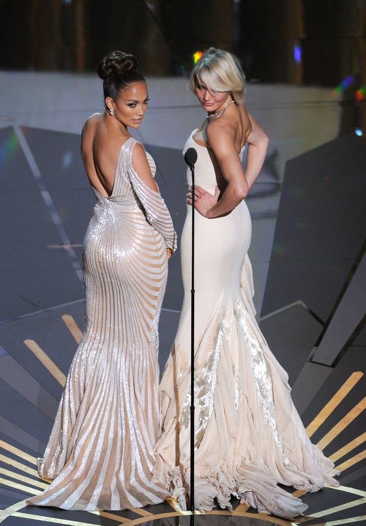 Jennifer Lopez and Cameron Diaz flaunted their figures on stage during the 2012 show.